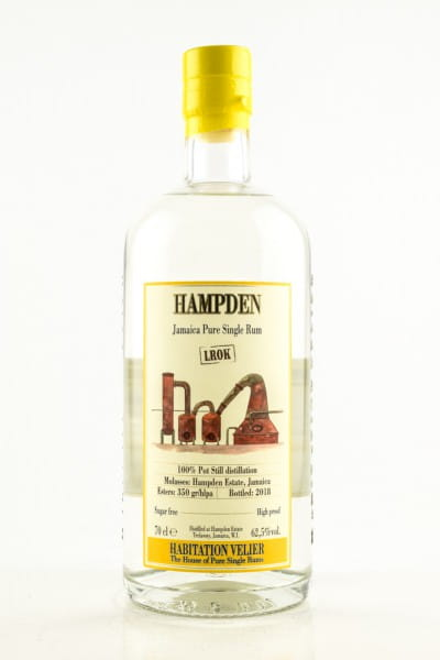 Hampden LROK Pure Single White Rum 62,5%vol. 0,7l