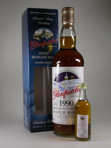 Glenfarclas Christmas 1990/2009 Cask #12184 & 12185 Oloroso Sherry Casks 46%vol. Sample 0,05l