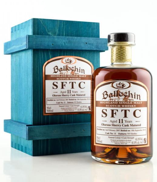 Ballechin 11 Jahre 2007/2018 SFTC Oloroso Sherry Cask Matured #18 61%vol. 0,5l