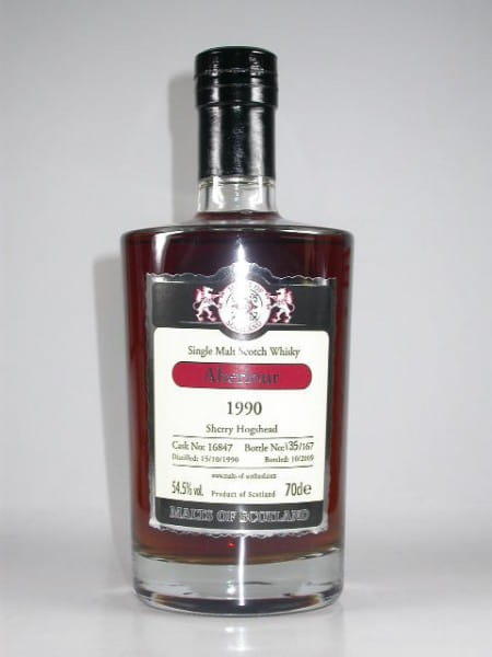 Aberlour 1990/2009 Sherry Hogshead Malts of Scotland 54,5%vol. 0,7l