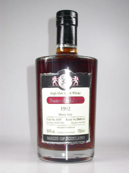 Bunnahabhain 1992/2010 Sherry Butt Malts of Scotland 54,4%vol. 0,7l