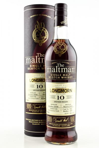 Longmorn 10 Jahre 2008/2019 Cask #7001 The Maltman 52,9%vol. 0,7l