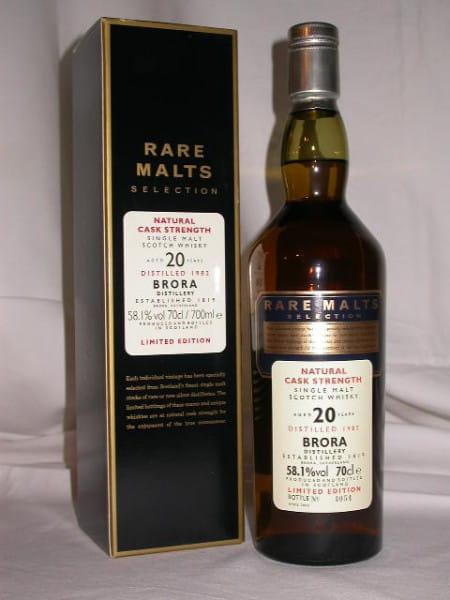 Brora 20 Jahre 1982/2003 Rare Malts 58,1%vol. 0,7l