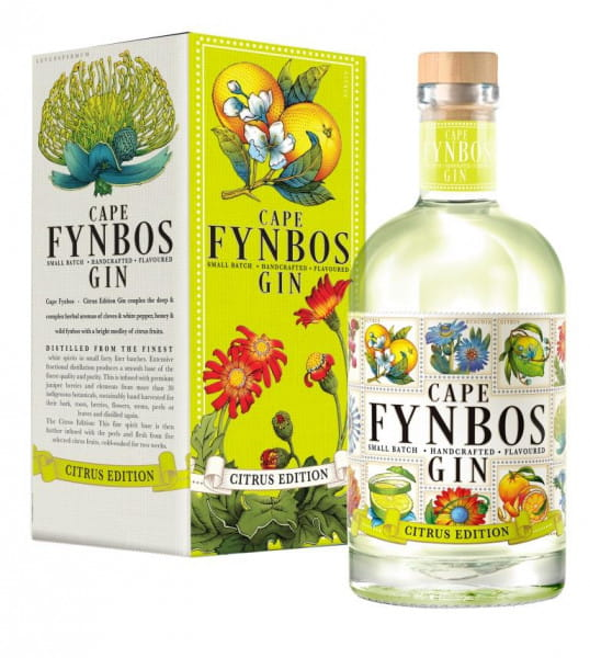 Cape Fynbos Gin Citrus Edition 43%vol. 0,5l