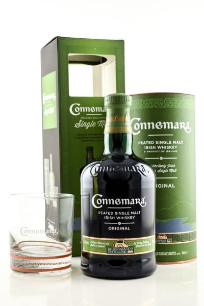 Connemara Peated 40%vol. 0,7l mit Glas