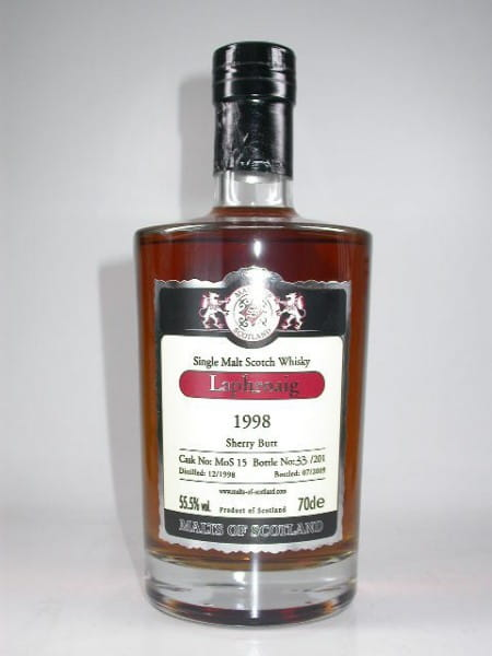 Laphroaig 1998/2009 Sherry Butt Malts of Scotland 55,5%vol. 0,7l