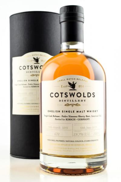Cotswolds 2015/2019 Single Pedro Ximénez Sherry Butt 59,7%vol. 0,7l