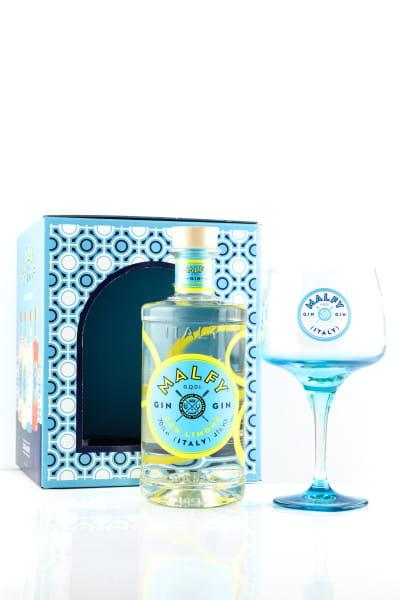 Malfy Gin con Limone 41%vol. 0,7l - Geschenkset mit Glas