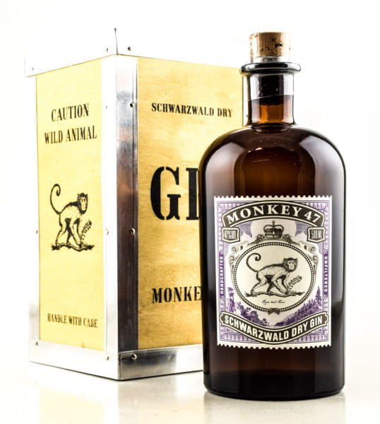 Monkey 47 Schwarzwald Dry Gin 47%vol. 0,5l - in Holzkiste
