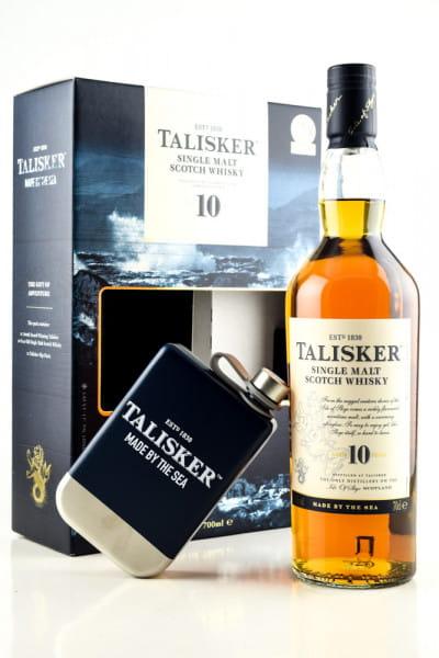 Talisker 10 Jahre 45,8%vol. 0,7l - mit Hip Flask
