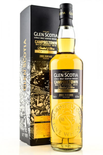 Glen Scotia 2003 Vintage Rum Cask Finish Campbeltown Malts Festival 2019 51,3%vol. 0,7l