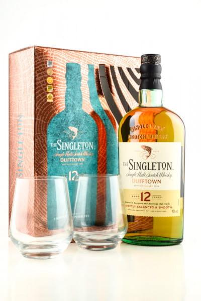 The Singleton of Dufftown 12 Jahre 40%vol. 0,7l  mit 2 Gläsern