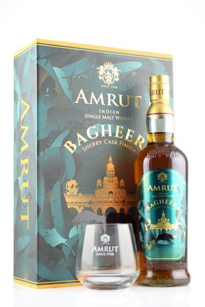 Amrut Bagheera 46%vol. 0,7l - mit zwei Gläsern  - Mängelexemplar