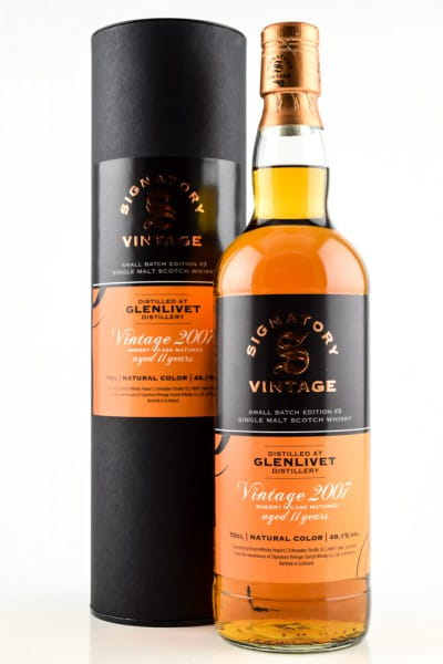 Glenlivet 11 Jahre 2007/2018 Sherry Cask Small Batch Edition #3 Signatory 48,1%vol. 0,7l