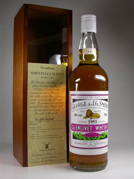 Glenlivet 1951/1995 Gordon & MacPhail 40%vol. 0,7l