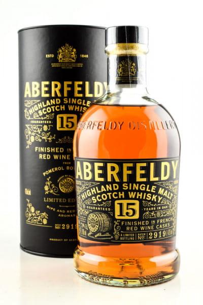 Aberfeldy 15 Jahre Pomerol Finish 43%vol. 0,7l  - Mängelexemplar