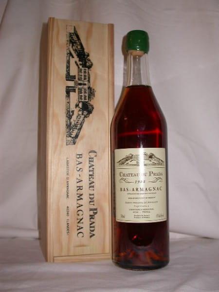 Chateau du Prada 1988 Bas Armagnac 43%vol. 0,7l mit Holzkiste