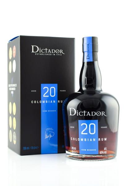 Dictador 20 Jahre Icon Reserve 40%vol. 0,7l in Geschenkpackung
