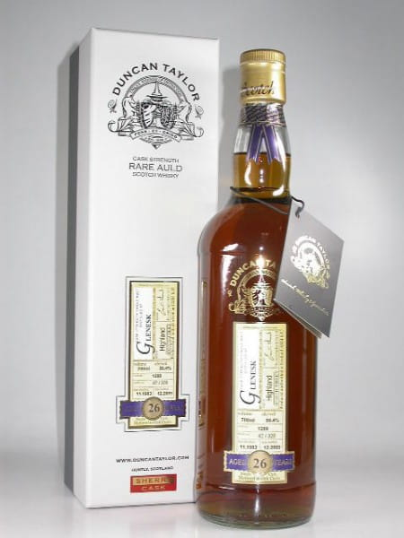 Glenesk 26 Jahre Sherry 1983/2009 Rare Auld Duncan Taylor 56,4%vol. 0,7l