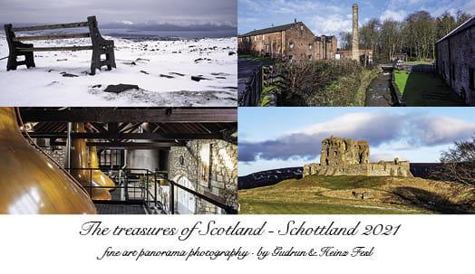 """Tischkalender """"The treasures of Scotland"""" 2021"""
