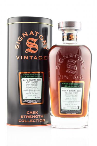 Allt-à-bhainne 20 Jahre 2000/2021 Fresh Sherry Butt #11 Finish Signatory Cask strength Coll. 52,6%vol. 0,7l