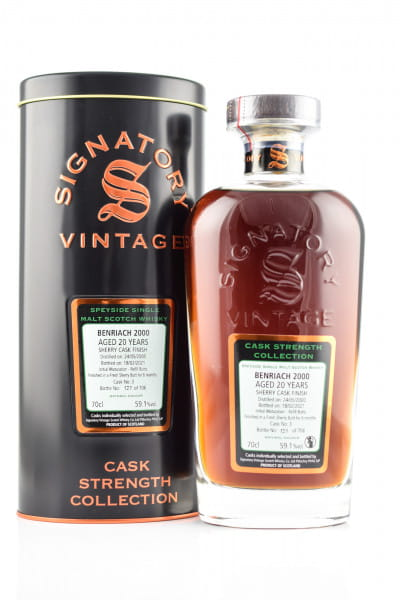 Benriach 20 Jahre 2000/2021 Fresh Sherry Butt #3 Finish Signatory Cask strength Coll. 59,1%vol. 0,7l