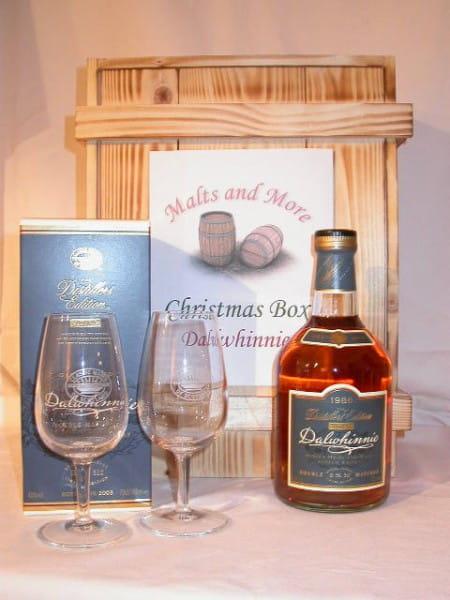 Dalwhinnie Christmas Box mit 2 Nosing-Gläsern