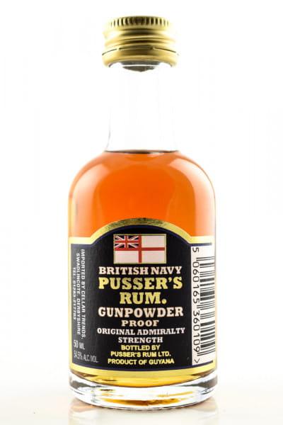Pusser's British Navy Gunpowder Proof Black Label 54,5%vol. 0,05l