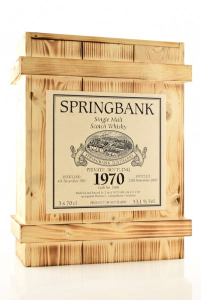 Springbank Private Bottling 1970 Holzkiste