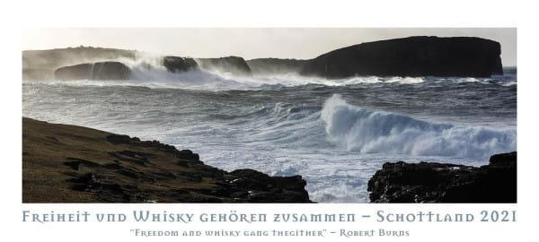 Kalender Freiheit und Whisky gehören zusammen - Schottland 2021
