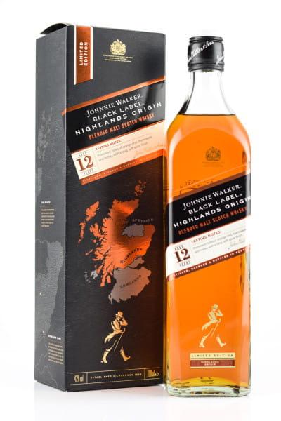 Johnnie Walker Black Label 12 Jahre Highlands Origin 42%vol. 0,7l