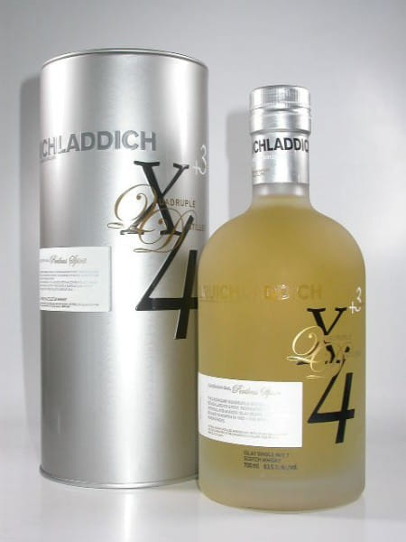 Bruichladdich X4 +3 Jahre Quadruple Distilled 63,5%vol. 0,7l