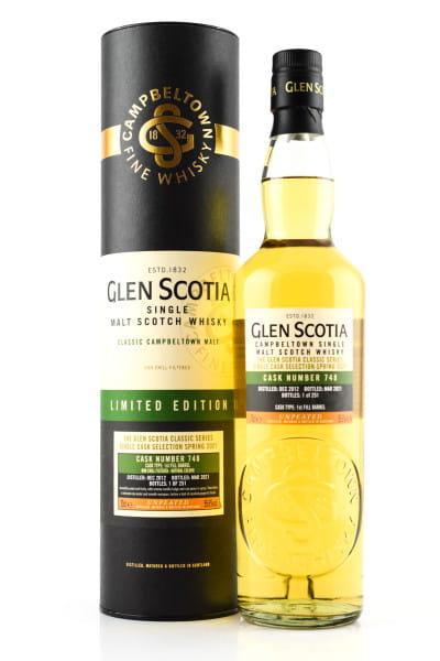 Glen Scotia 2012/2021 1st Fill Bourbon Barrel #748 55,6%vol. 0,7l
