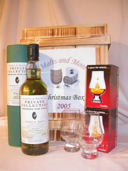 Christmas Box Gordon & MacPhail Caol Ila Demerara Rum + 2 Gläser